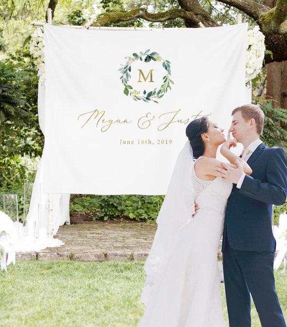 Personalized Wedding Backdrop For Reception Monogram | Etsy