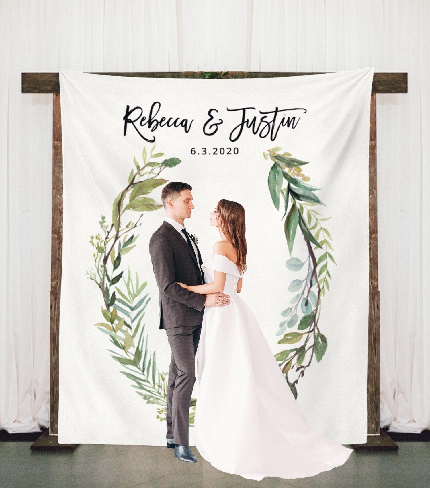 Wedding Arch Decorations Fabric: Greenery Wedding Backdrop Wedding Arch Decor Rustic