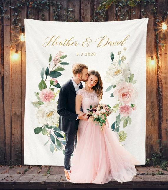 Floral Wedding Photo Backdrop Spring Wedding Decor Wedding Etsy