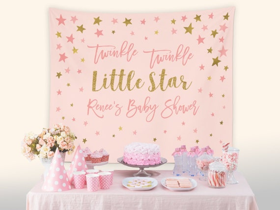 Twinkle Twinkle Little Star Baby Shower Decorations Pink Baby Etsy