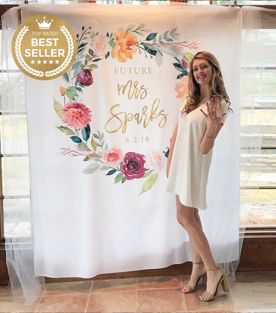 Romantic 10x15 FT Photo Backdrops,Flower Pattern with Fresh Foliage Leaves and Petals Watercolor Style Illustration Background for Baby Shower Bridal Wedding Studio Photography Pictures Multicolor