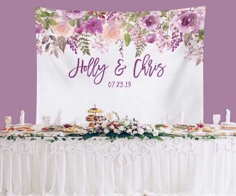 Purple Wedding Backdrop Lavender Wedding Table Decor Etsy