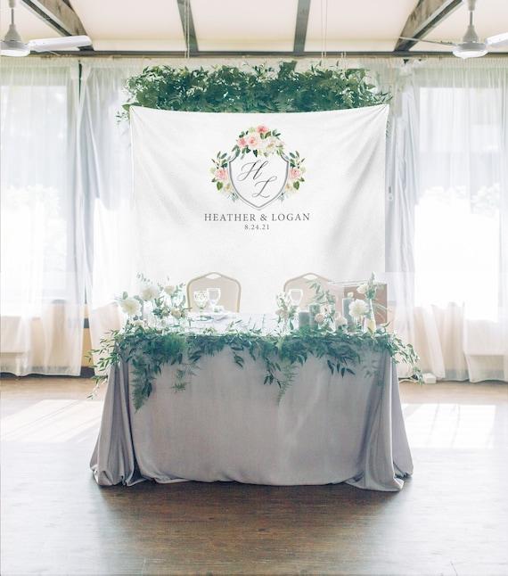 Personalized Wedding Backdrop For Reception Rustic Wedding Etsy