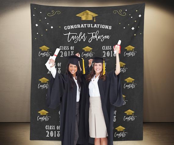 Graduation Backdrop: Custom Graduation Photo Booth Backdrop Graduation Party