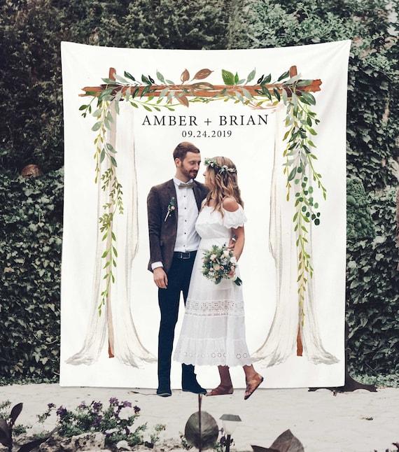 Greenery Wedding Backdrop for Reception Wedding Photo Booth | Etsy