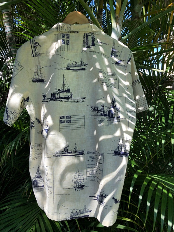 1970's vintage Mens L Aloha Wear, Hawaiian shirt,… - image 3
