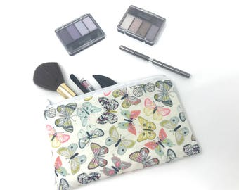 Butterfly Cosmetic Bag | Zipper Pouch | Toiletry Bag | Pencil Case | Gifts for Her | Makeup Bag