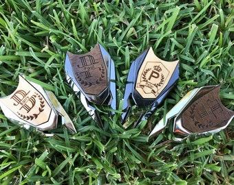 Monogram Shield Ball Marker with Divot Tool, Monogram Ball Marker, Golf Ball Marker, Custom Ball Marker, Golf Gift, Golf Divot Tool