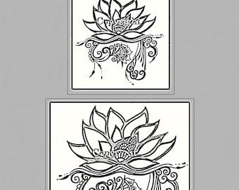 2f64f12b5e712 Floral, (3B), Henna, Jagua, tattoo Stencil, carbon, thermal, stencil, henna  tattoo, lotus, flowers, body art, facepainting, jagua tattoo,