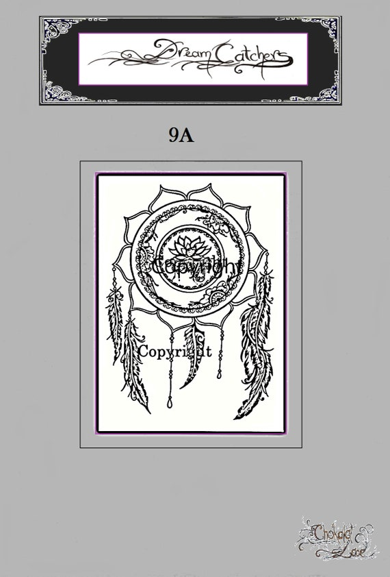 Traumfänger 9a Henna Jagua Tattoo Schablonen Vegan Etsy