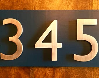 a3e6353501b6 Address Plaque | Modern House Numbers | House Number Plaque | House Number  Sign | Address Sign | House Numbers | Copper House Numbers