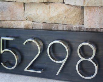 Address Plaque   Modern House Numbers   House Number Plaque   House Number Sign   Address Sign   House Numbers   Wedding Gift