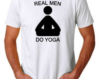 Real Men Do Yoga T-shirt, Custom shirt, Unisex Shirt
