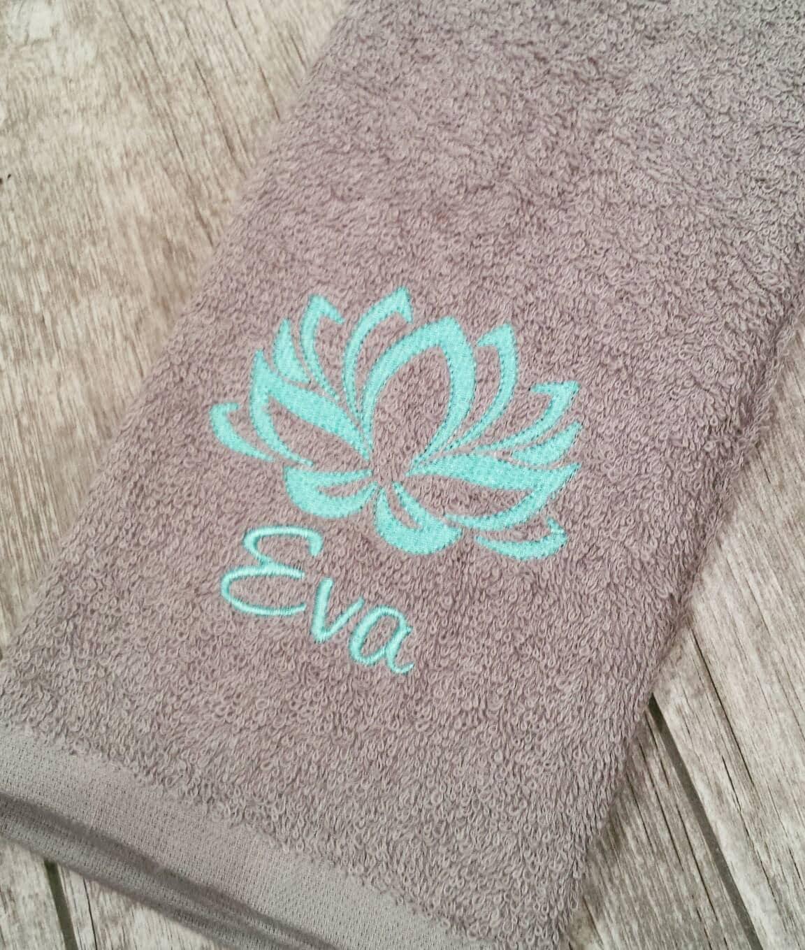 Personalized Sweat Towel: Personalized Lotus Sweat Towel Gym Towel Sports Towel