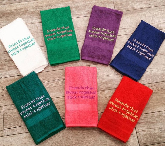 Personalized Sweat Towel: Friends That Sweat Together Sweat Towel Gym Towel