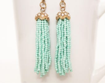 Jellyfish Earrings   Handmade   Teal   Gold   Unique