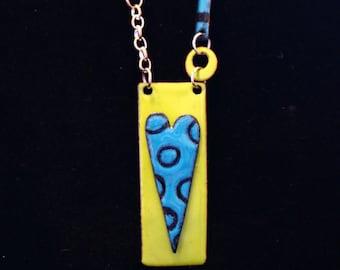 Necklace Heart Pendant Whimsical Design