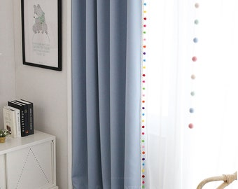 High Quality Pom Pom Blackout Curtains In 5 Colors, Kids Blackout Curtains, Nursery  Blackout Curtains, Curtains Nursery, Bedroom Curtains, Tassel Curtain