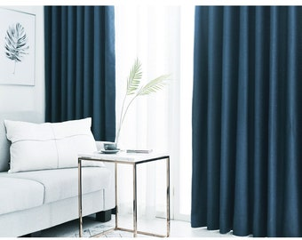Heavy Weight Pair Of Blackout Curtains Drapery Panel, Deep Blue Blackout  Curtains, Blackout Curtains Nursery, Bedroom Curtains