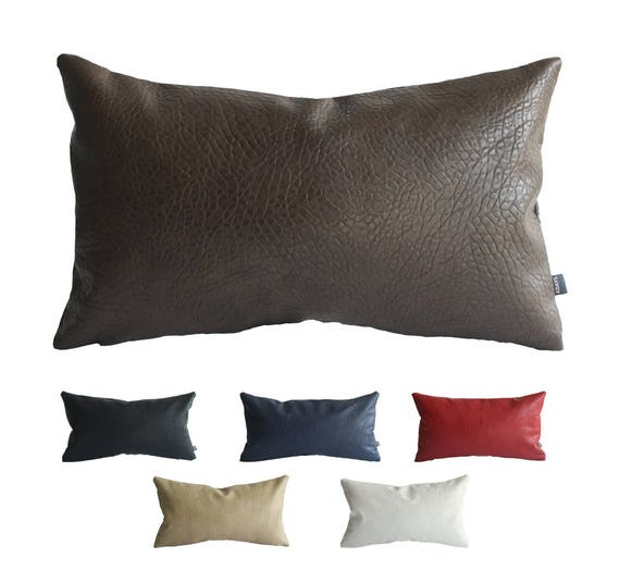 Kdays Faux Leather Elephant Brown Pillow Cover 12x20 Inches Decorative For  Couch Throw Pillow Handmade Cushion Covers Brown Leather Pillows