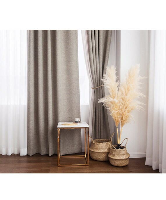 Heavy Weight Pair of Blackout Curtains Drapery Panel, Warm Gray Blackout  Curtains, Blackout Curtains Nursery, Bedroom Curtains