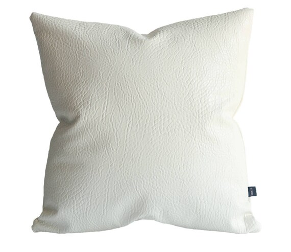 Terrific White Faux Leather Elephant Off White Pillow Cover Decorative For Couch Throw Pillow Case Handmade Cushion Covers Off White Leather Pillows Pdpeps Interior Chair Design Pdpepsorg