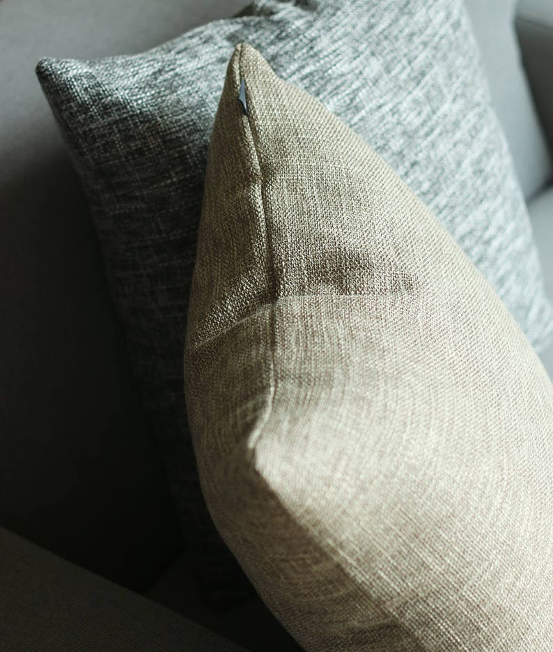 Kdays Burlap Look Light Brown Pillow