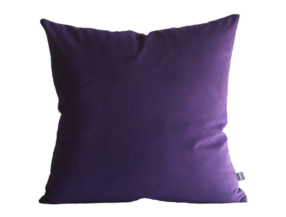 Kdays Faux Suede Dark Purple Pillow Cover Decorative For ...
