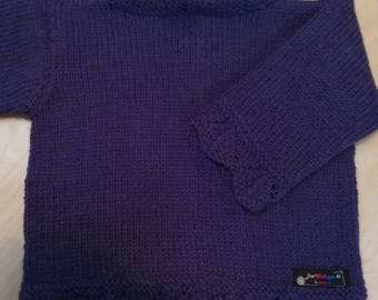 Baby sweater, GR 68/74 in dark purple