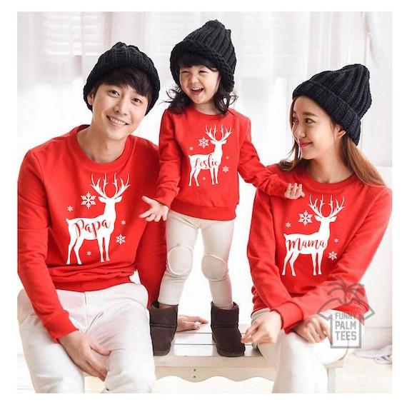 Kersttrui Familie.Kerst Trui Kerst Familie Truien Kerstmis Familie Outfits Kerst Etsy