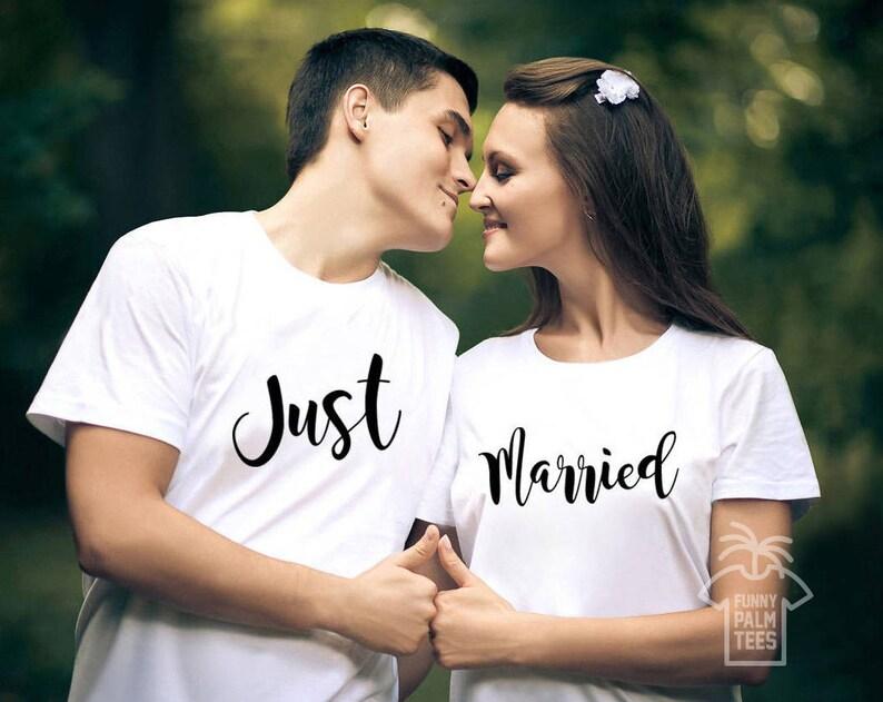 9fbc608b2fb3 Just married shirts mr and mrs shirts couple t shirt wedding | Etsy