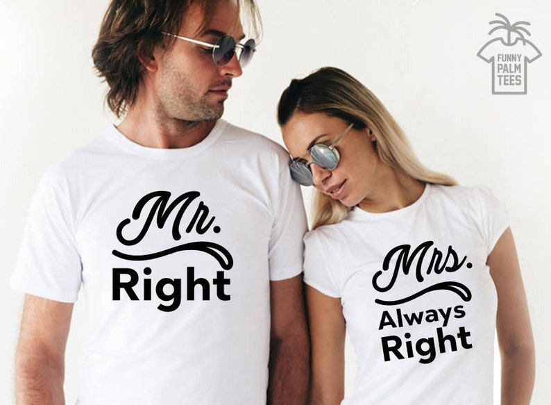 6b2f211b Mr and Mrs shirts just married shirts honeymoon shirts couple | Etsy