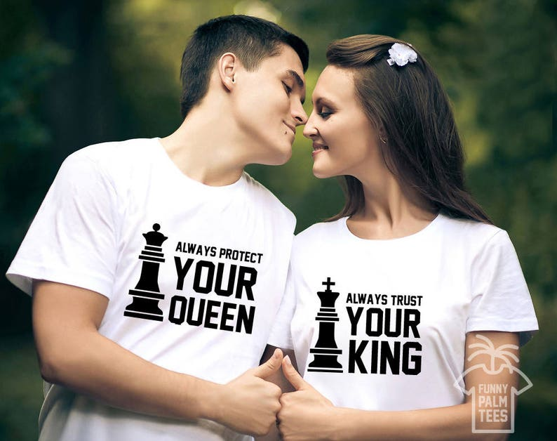 bec09cedc King and Queen shirts king and queen couple tshirt couples | Etsy