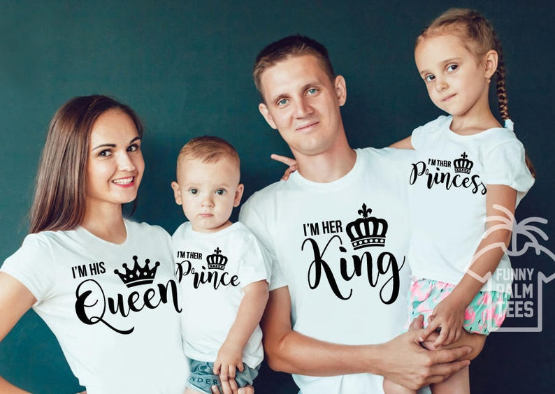 6da0a4c48f King and queen shirts king queen prince princess shirts family | Etsy