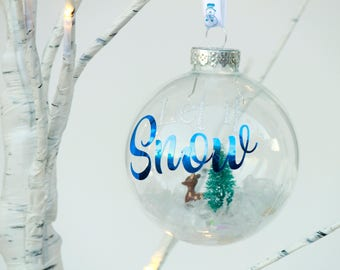 Let It Snow Holiday Ornament