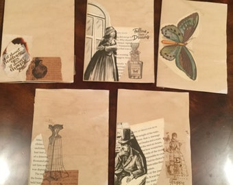 Set of vintage themed journal pages