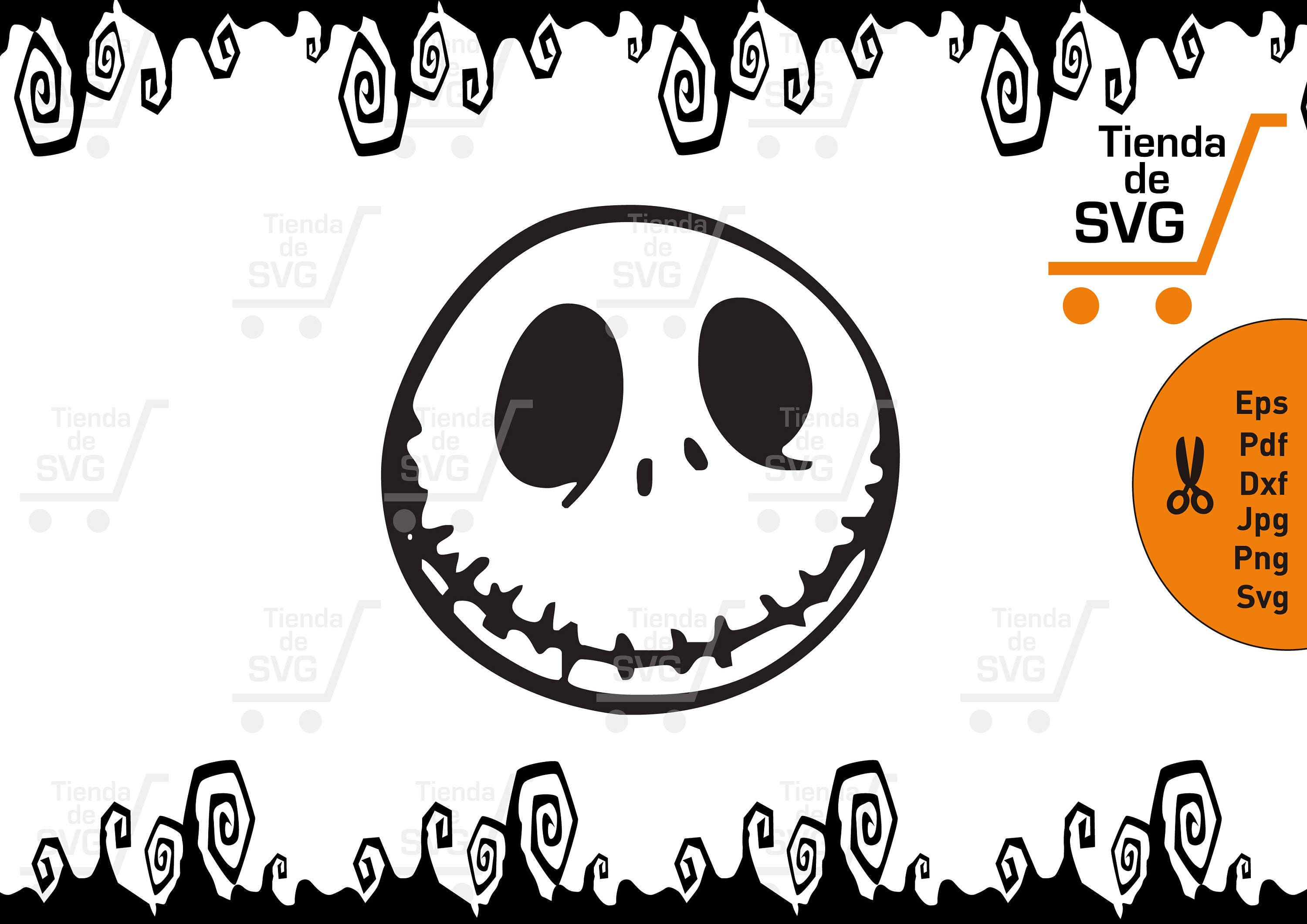 Jack Skellington svg The Nightmare Before Christmas svg | Etsy