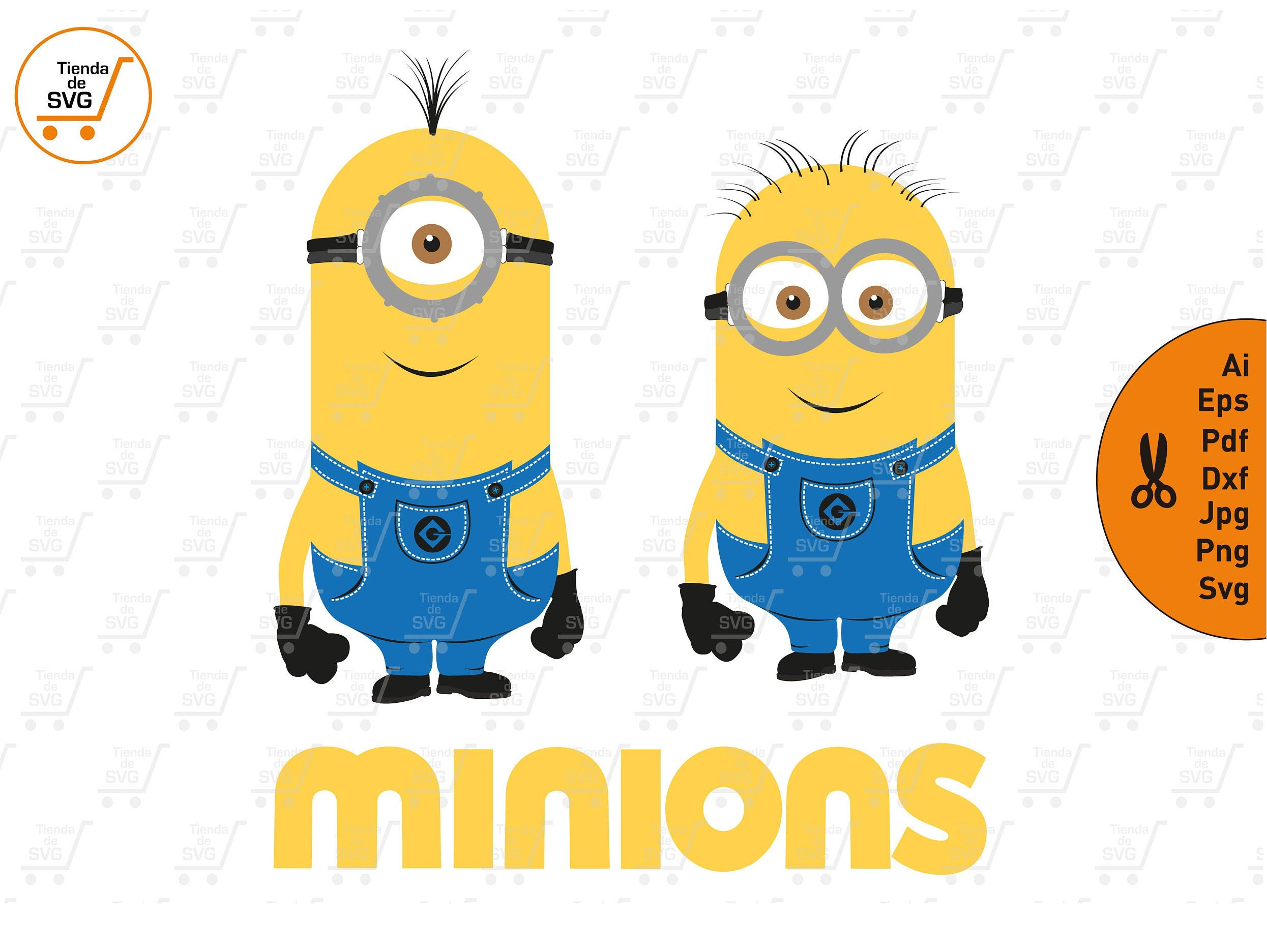Minions Svg Despicable Me Svg Minions Clipart Minions Party Etsy
