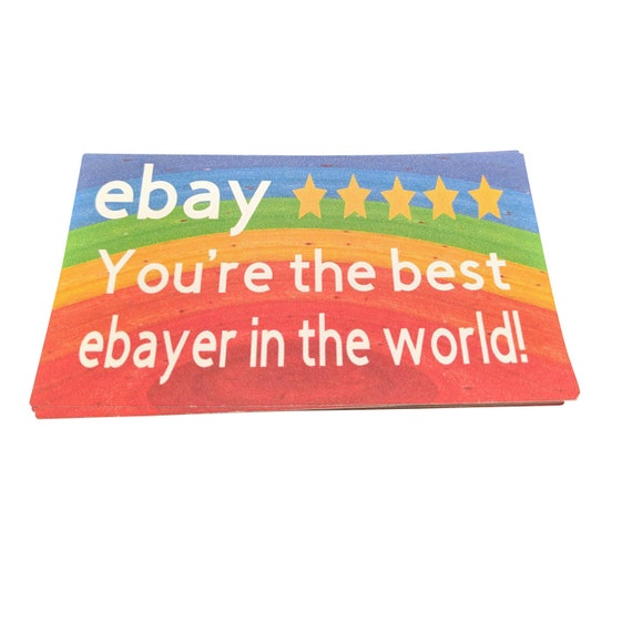 Business thank you ebay seller cards online shop cards reheart Image collections