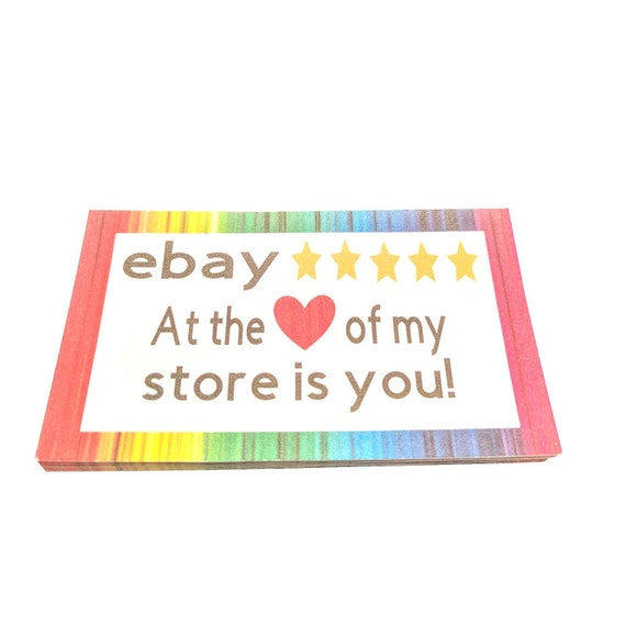Business thank you ebay seller cards online shop cards etsy reheart Image collections