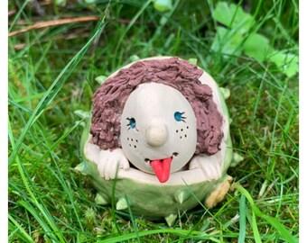 Chestnut Child Benno Autumn Decoration Ceramics Autumn Chestnuts Garden Decoration Decorative Ceramics