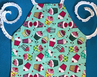 Toddler Girl's reversible apron