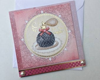 Perfume Bottle   For You   Birthday, Mother's Day handmade card