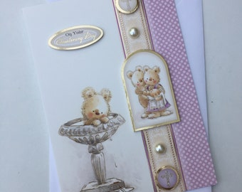 Congratulations   On Your Christening Day handmade card