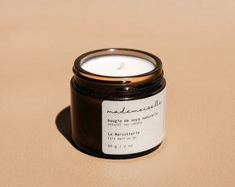 Lavender soy candle   natural essential oil candle, birch peppermint candle, self-care gift, refreshing candle, fresh scent candle