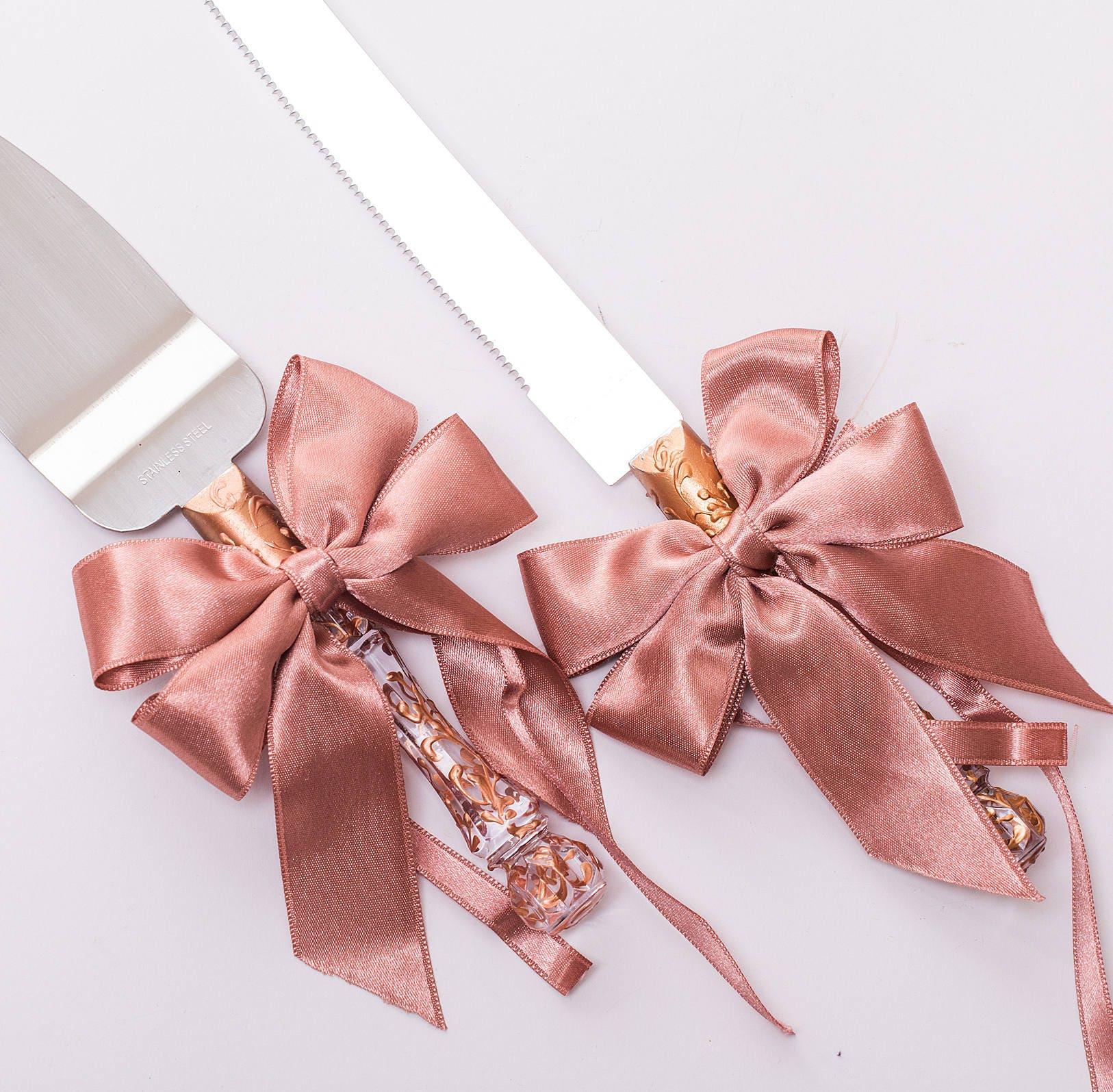 ROSE GOLD wedding cake server set rose gold Wedding rose gold | Etsy