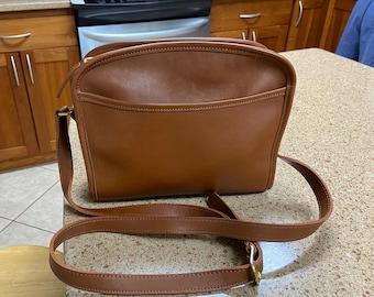 Coach Purse No. H9U-9087 Vintage British Tan Leather Metropolis Crossbody Bag