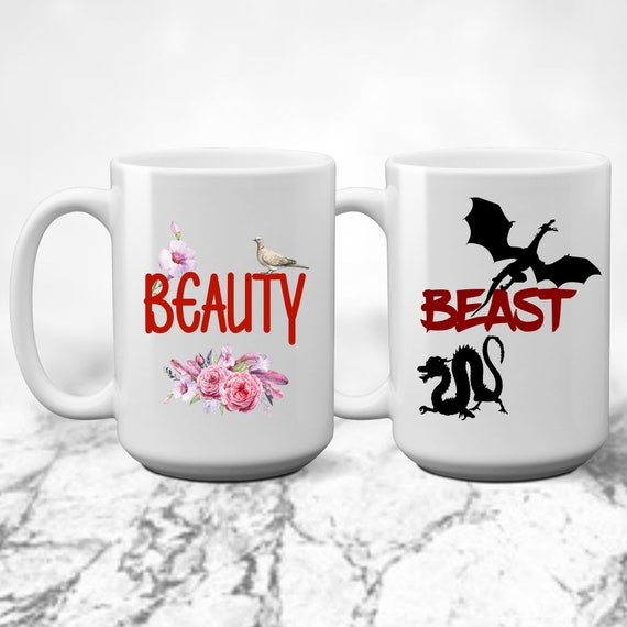 Beauty And Beast Couples Mugs Coffee Cups Etsy