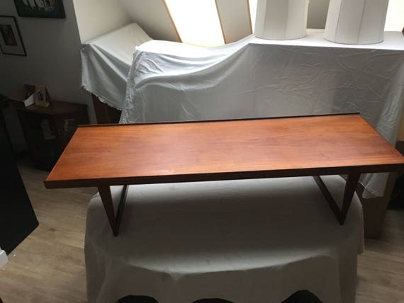 Peter lovig nielsen solid teak coffee table for dansk designs etsy