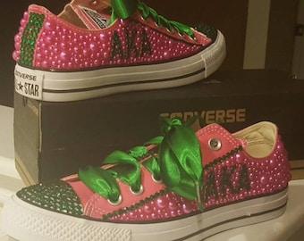 ff1117b6ee3a AKA Rhinestone Bling Converse shoes